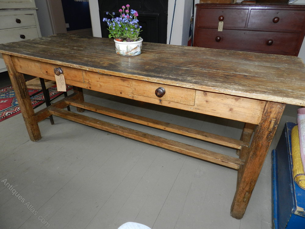 Victorian Pine Farmhouse Table Antiques Atlas