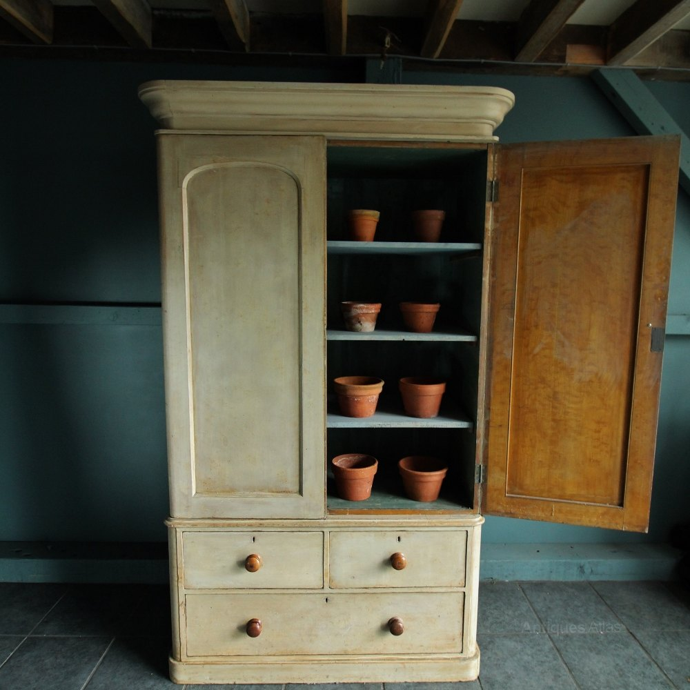 North Country Pine Linen Cupboard Original Paint Antiques Atlas