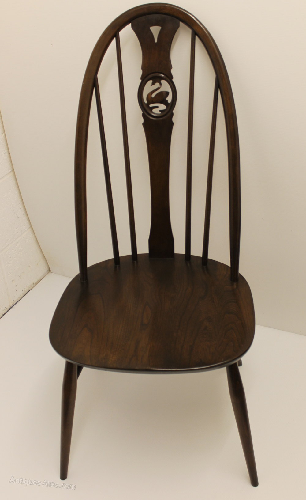 Antiques Atlas Set Of Six Ercol Swan Back Dining Chairs