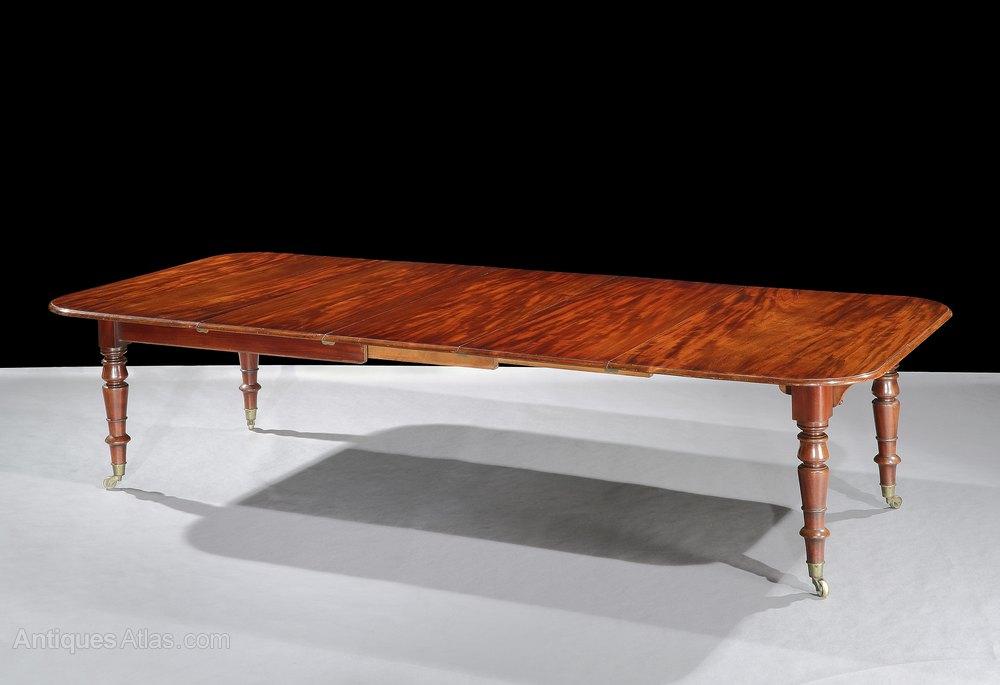 william iv mahogany telescopic 12 seater dining table