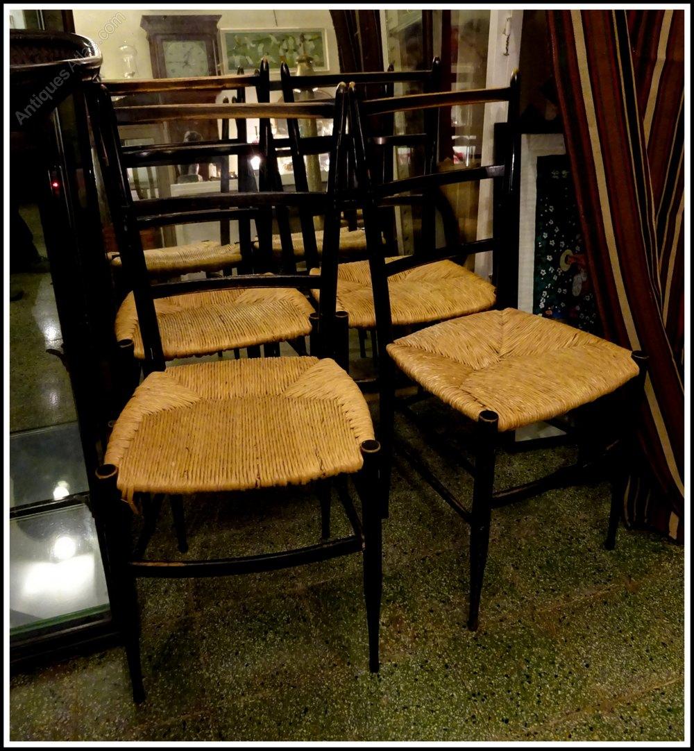 Four mid century italian designer chairs antiques atlas - Mid century designers ...