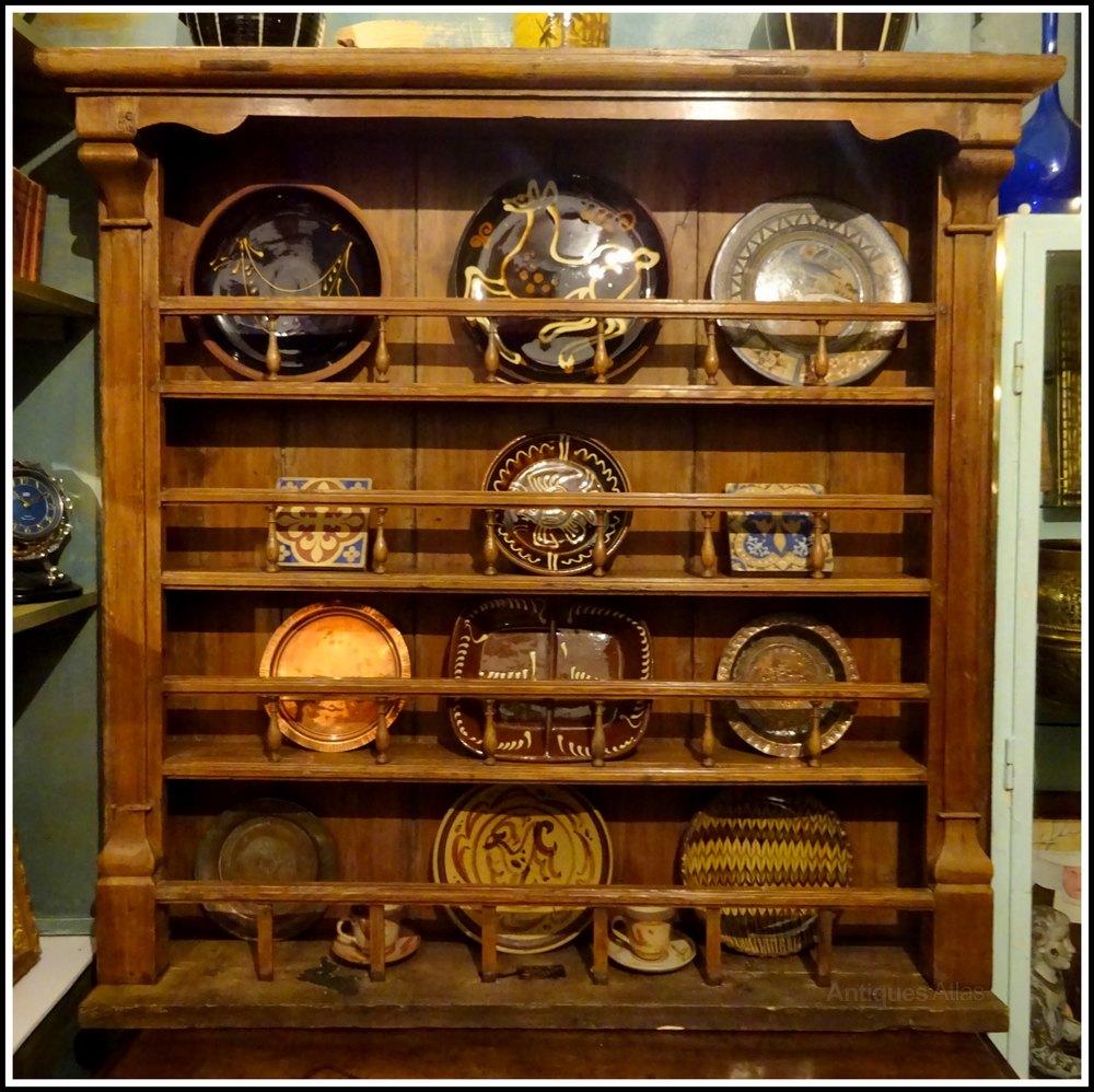 Victorian Pine Dresser Top Plate Rack Antiques Atlas