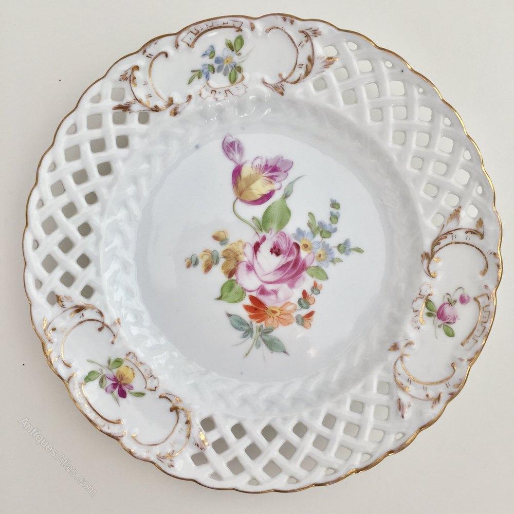 Meissen Keramik: 6 Meissen Dessert Plates, Franziska