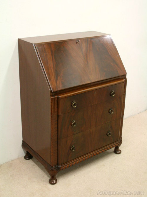 Art deco mahogany bureau antiques atlas for Deco bureau