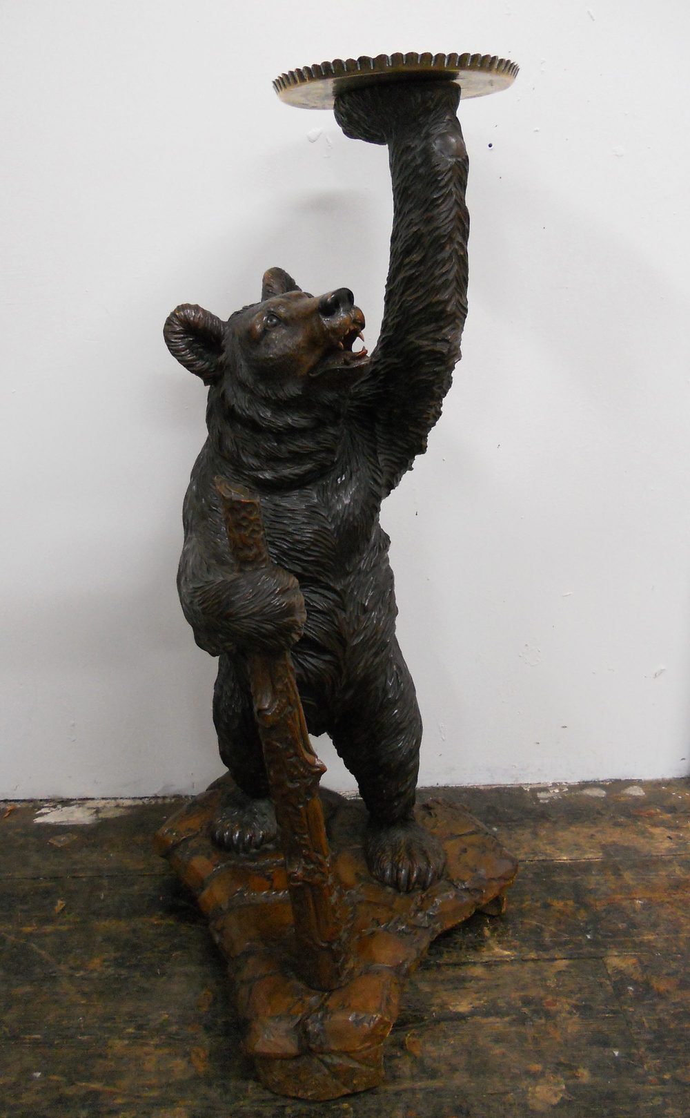 Exhibition Stand Rates : Black forest carved bear smokers stand antiques atlas