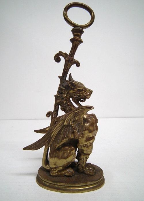 Antiques Atlas Cast Brass Dragon Door Stop