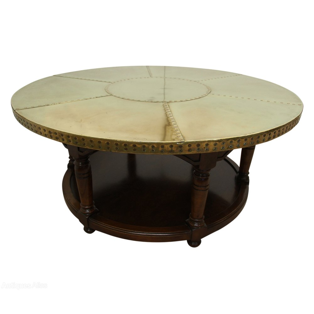 Circular brass coffee table antiques atlas Coffee table antique