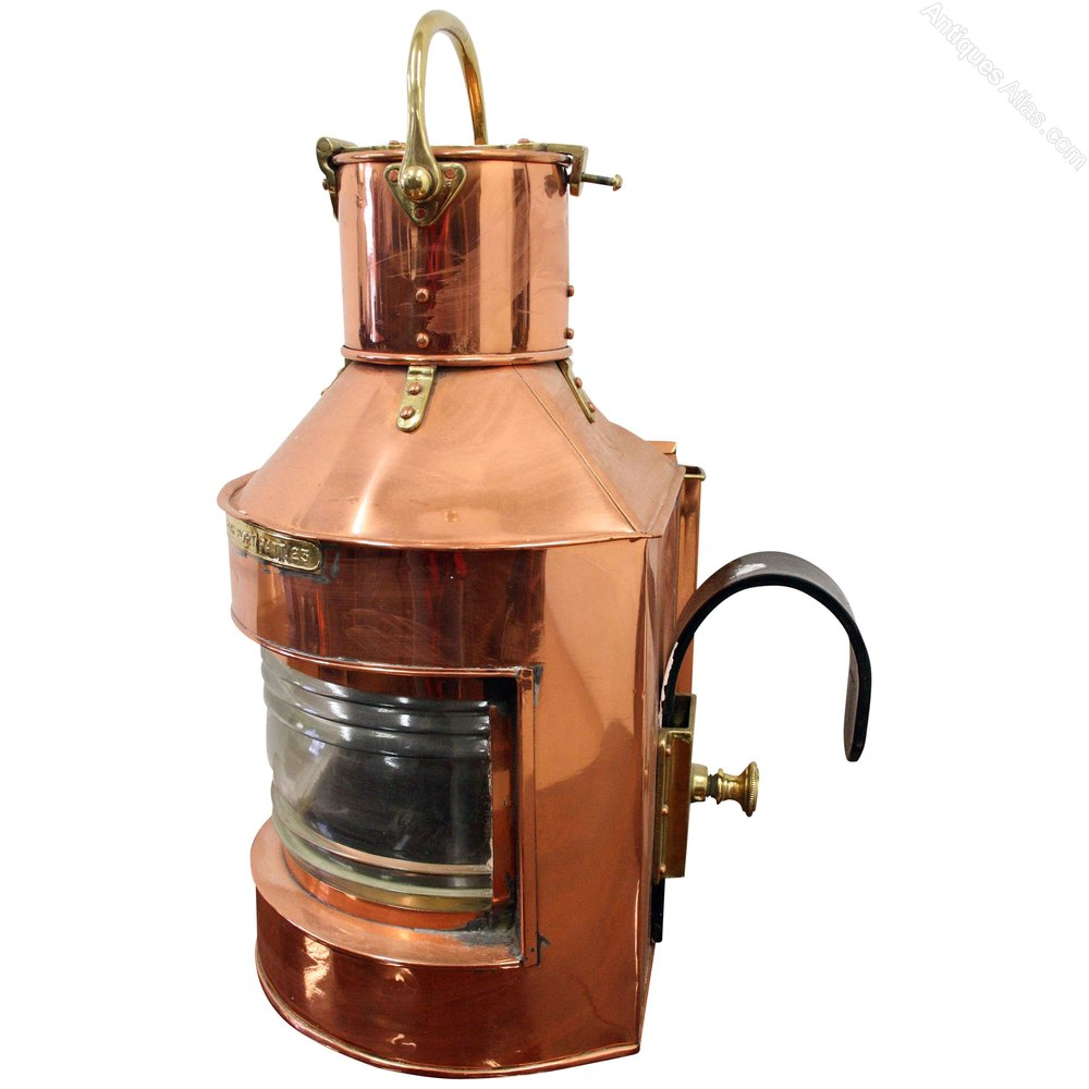 Antiques Atlas - Copper And Brass Ships Lantern