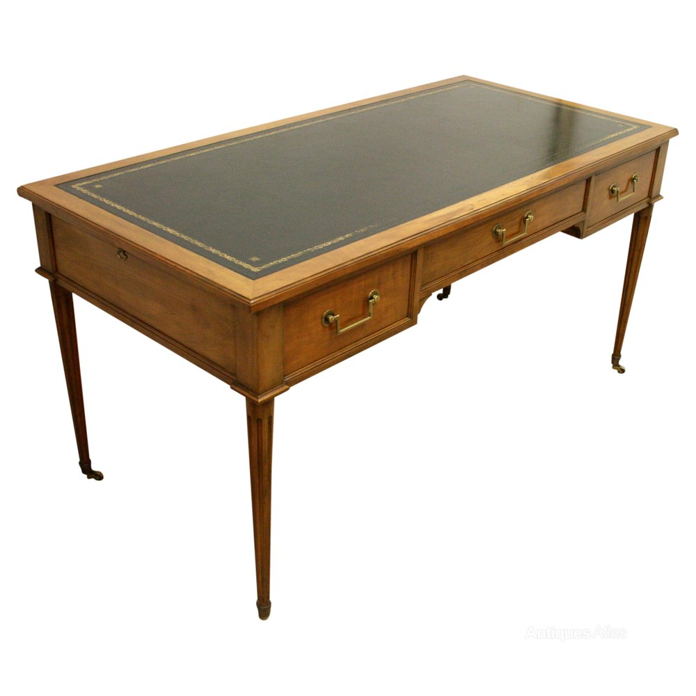 French Style Cherrywood Library Table Desk Antiques Atlas