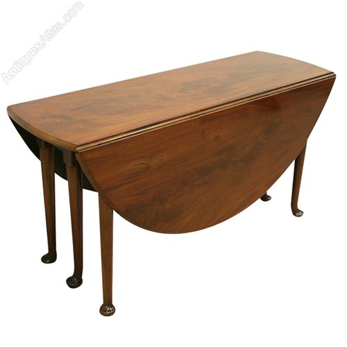 George III Mahogany Drop Leaf Dining Table - Antiques Atlas