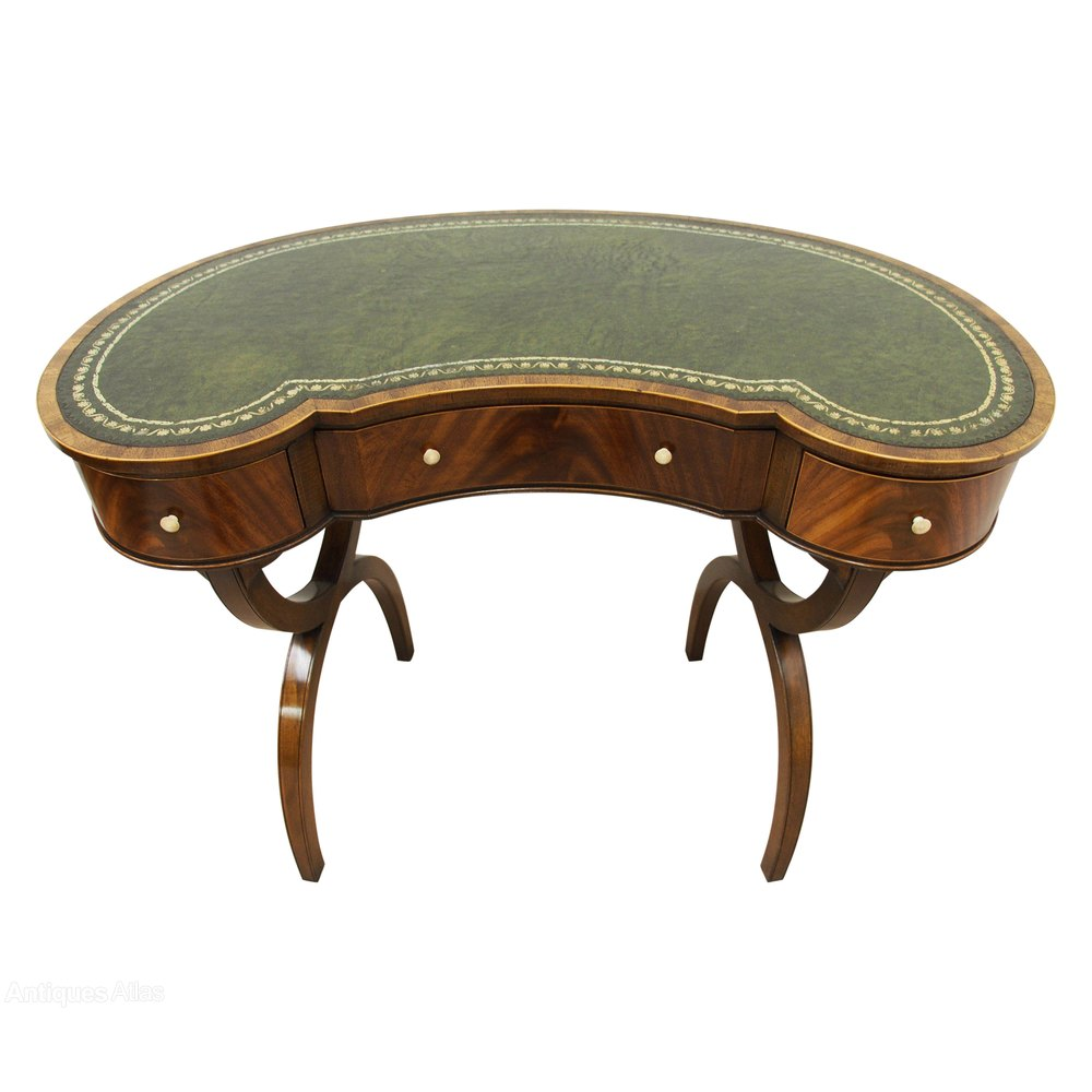 George Iii Style Kidney Shaped Writing Table Antiques Atlas