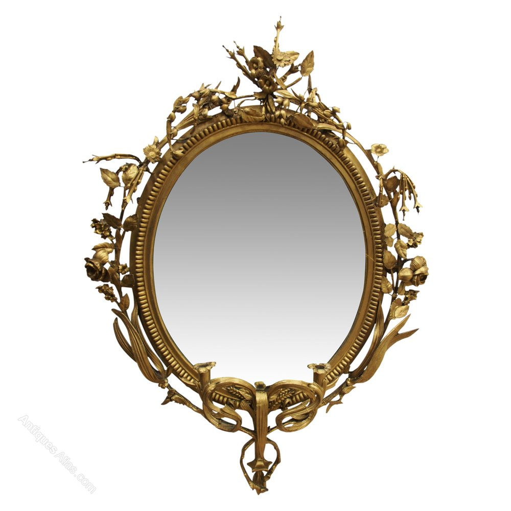 Antiques atlas georgian gilt girandole mirror for What is a gilt mirror