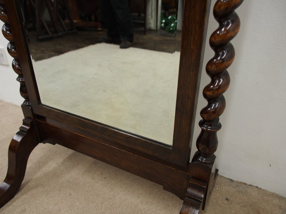 Antiques atlas jacobean style cheval mirror for Cheval mirror