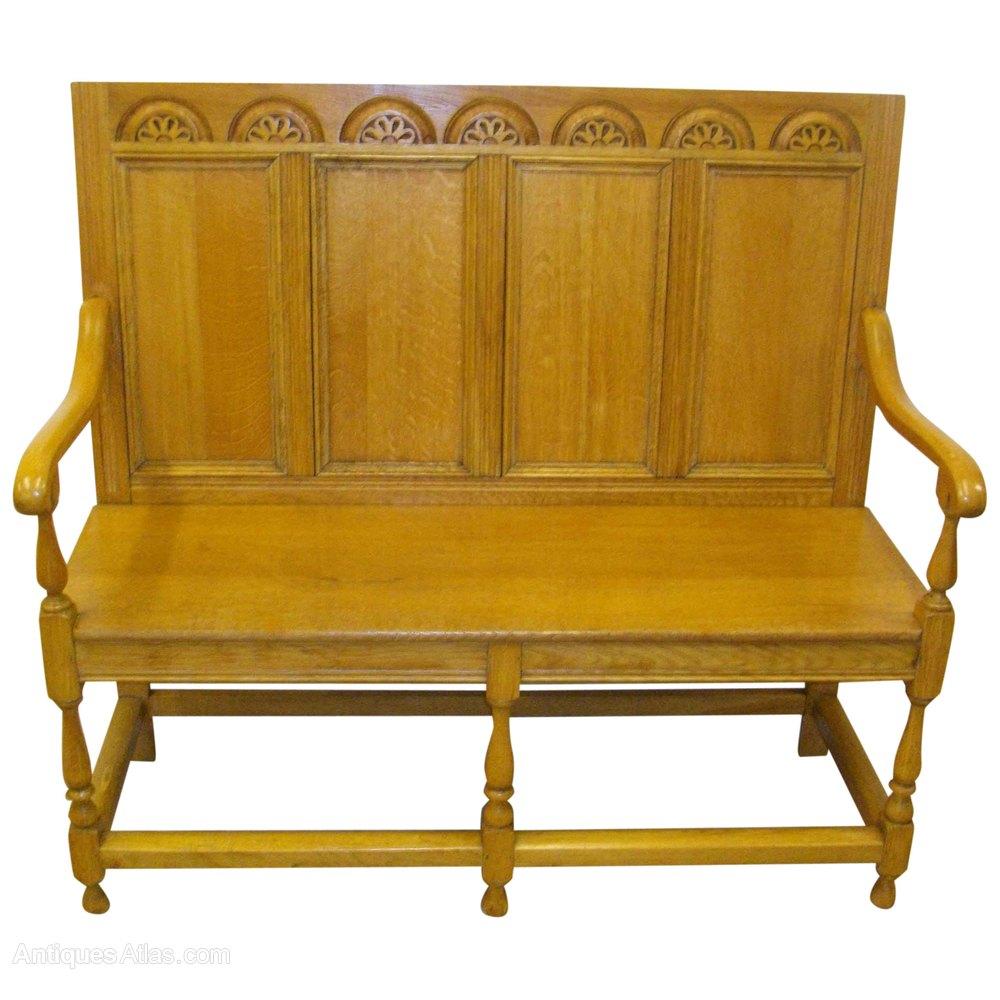Jacobean Style Oak Hall Bench Antiques Atlas