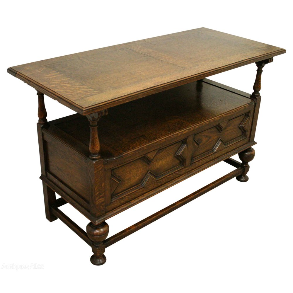 Jacobean Style Oak Monks Bench Antiques Atlas