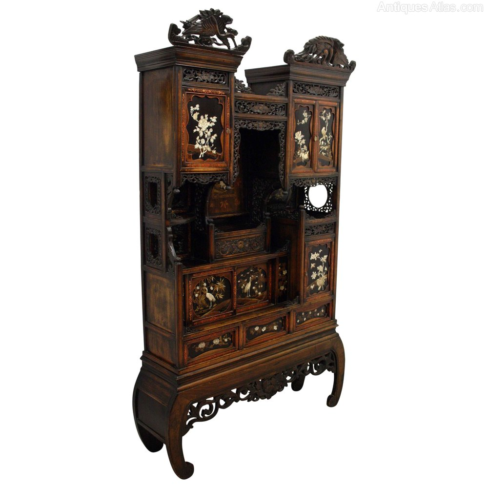 Japanese shodona cabinet antiques atlas for Antique asian cabinet