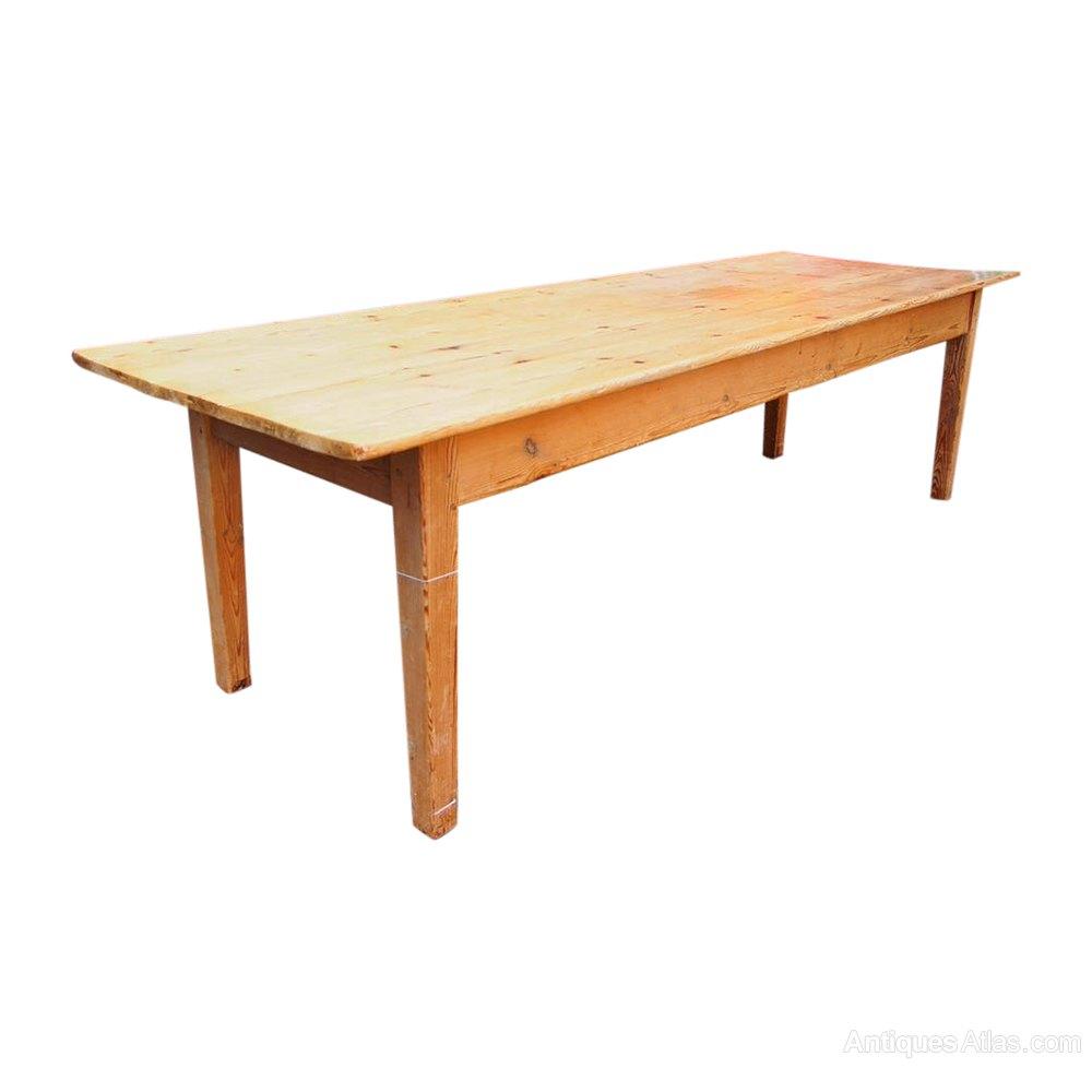 Antique Pine Farmhouse Kitchen Table