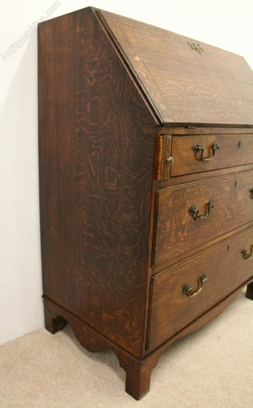 Late george iii oak bureau antiques atlas for Bureau hardware