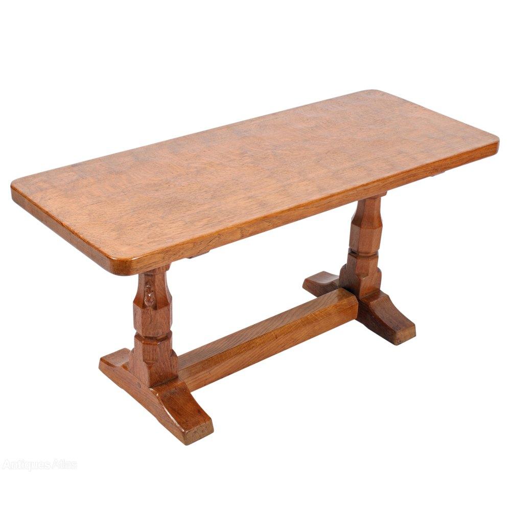 Antiques Atlas Mouseman Oak Coffee Table