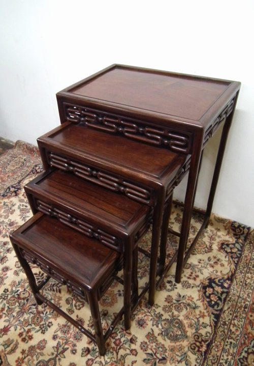 Nest Of 4 Chinese Rosewood Tables Antique ...