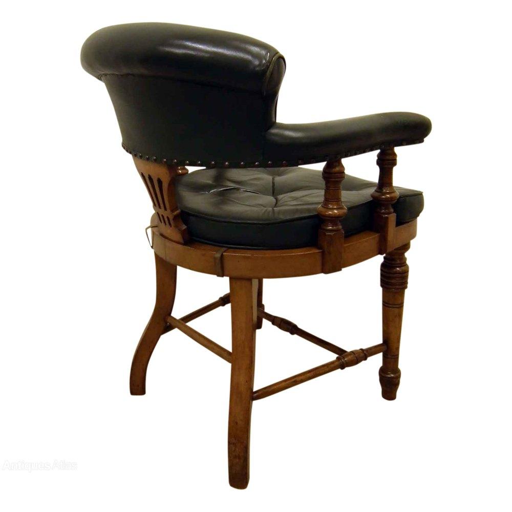 Oak Captain S Chair Desk Chair Antiques Atlas
