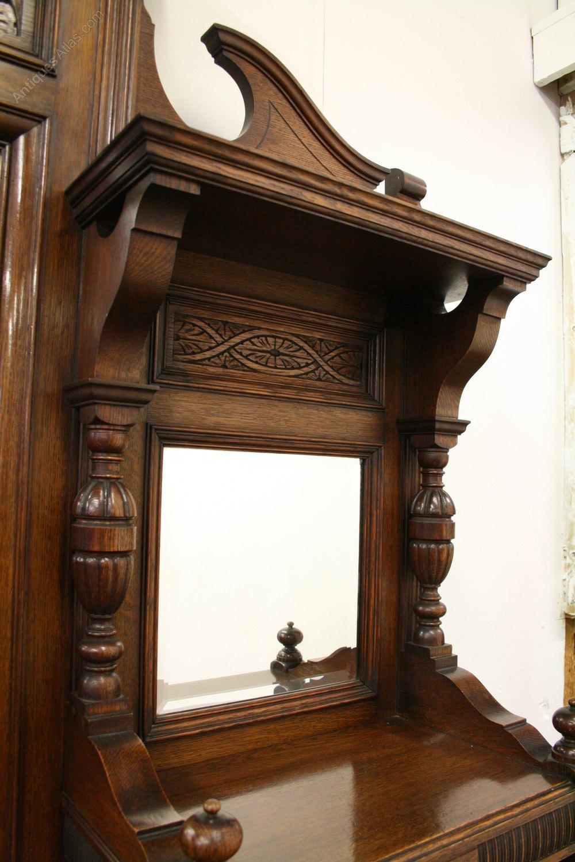 Oak Mirror Back Sideboard Antiques Atlas