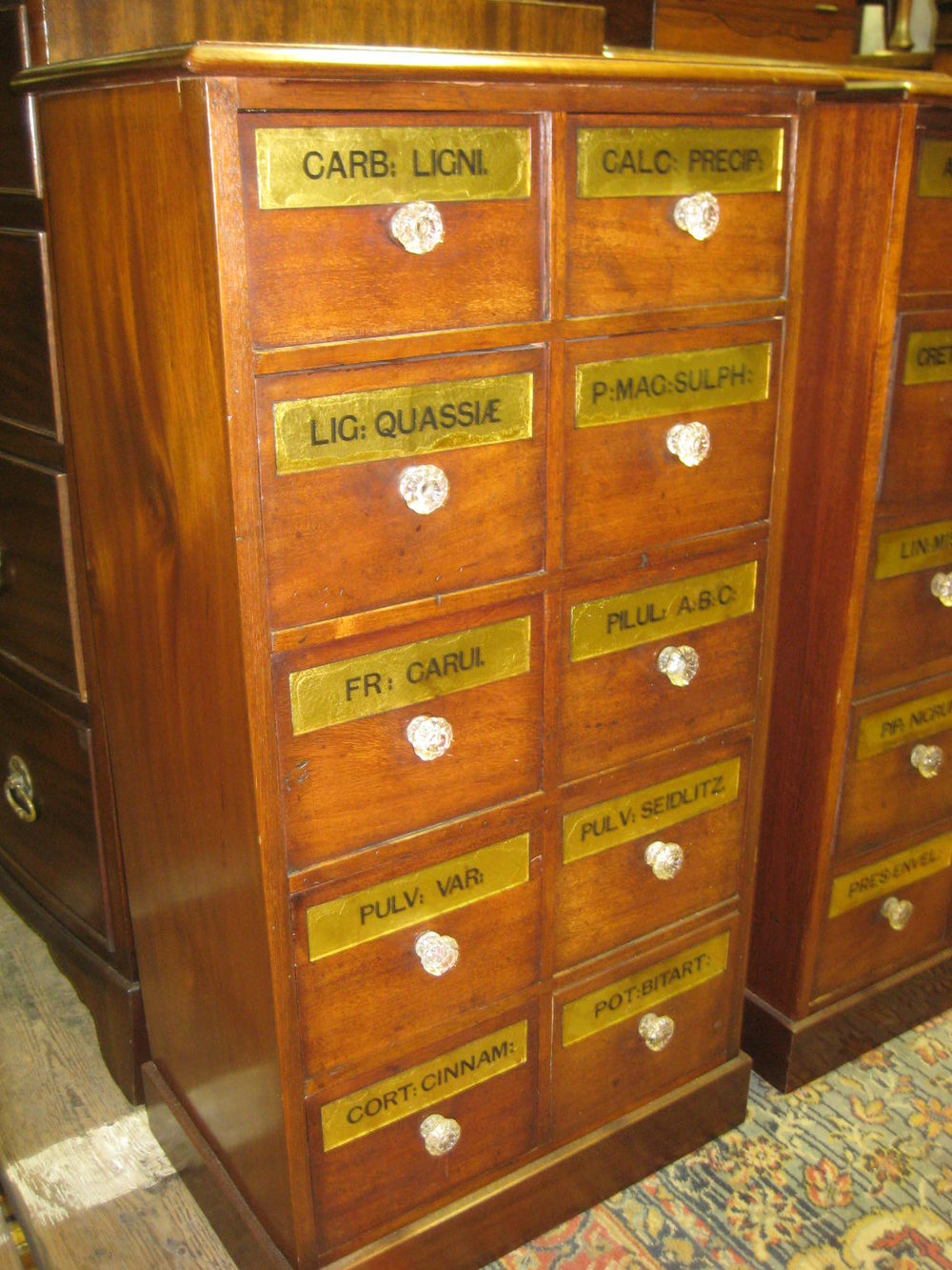 Pair of apothecary cabinets antiques atlas for Apothecary kitchen cabinets