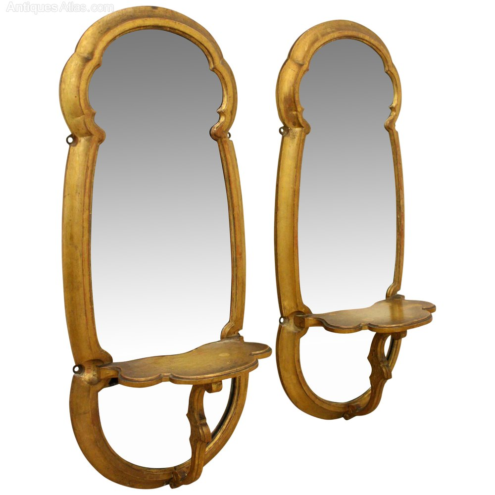 Antiques Atlas Pair Of Giltwood Mirrored Wall Brackets