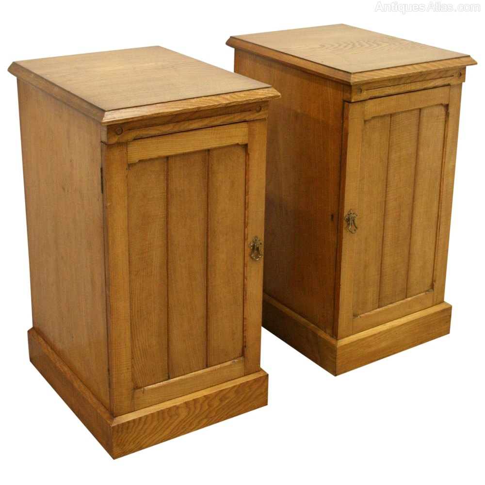 Pair Of Late Victorian Ash Bedside Lockers Antiques Atlas