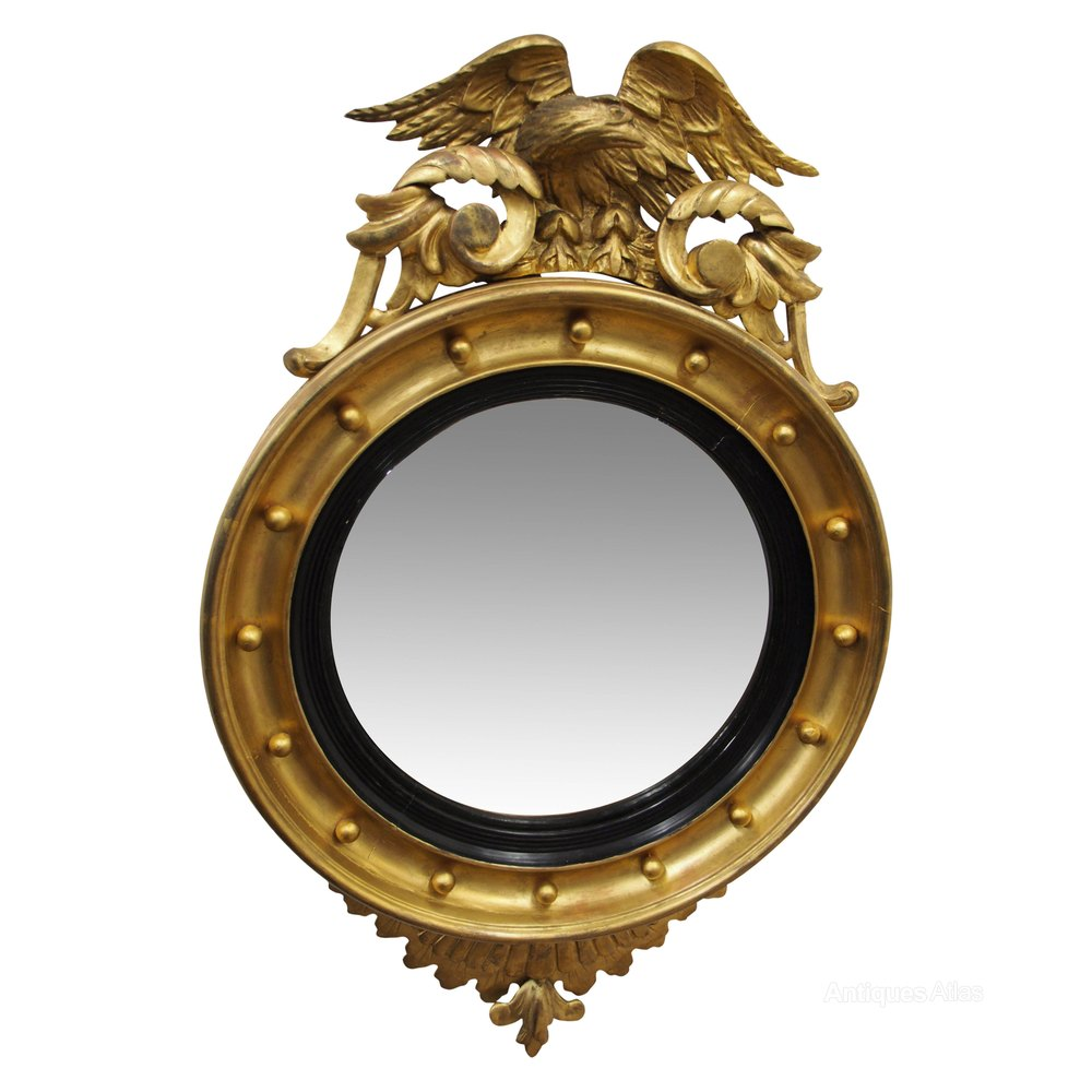 Antiques atlas regency style convex mirror for Convex mirror