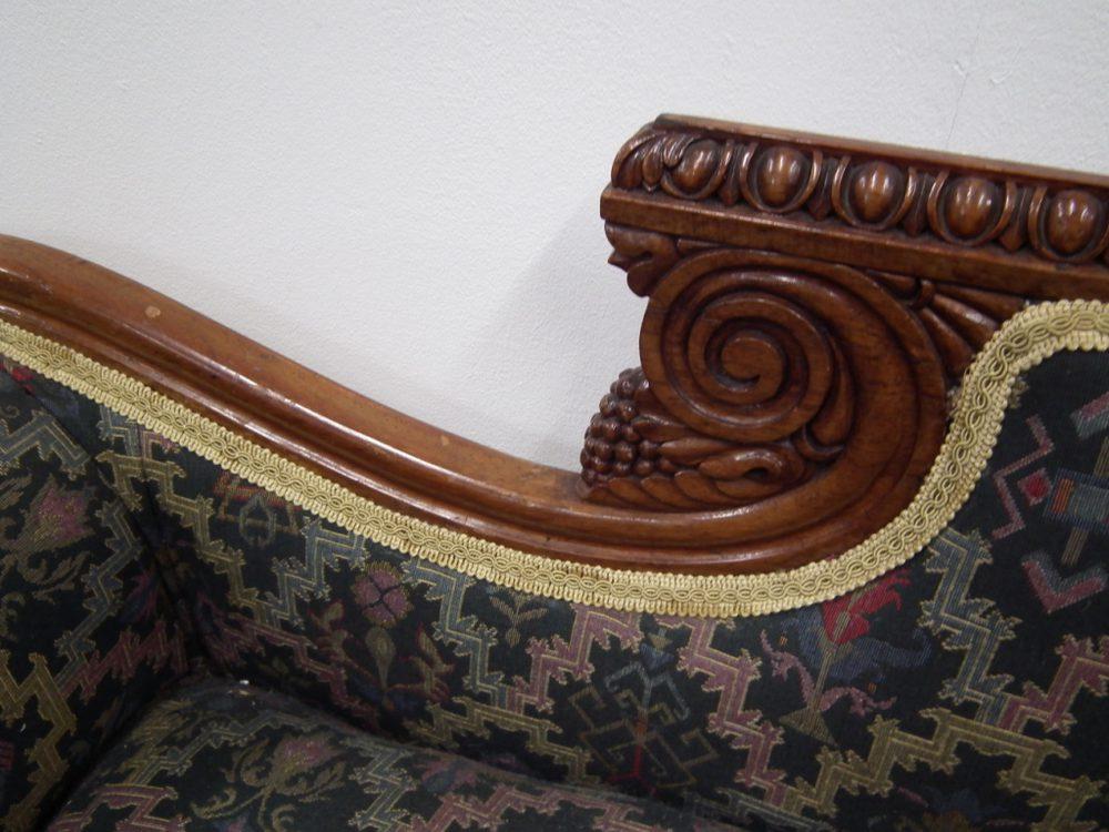 Scottish carved oak chaise longue antiques atlas for Antique chaise longue for sale uk