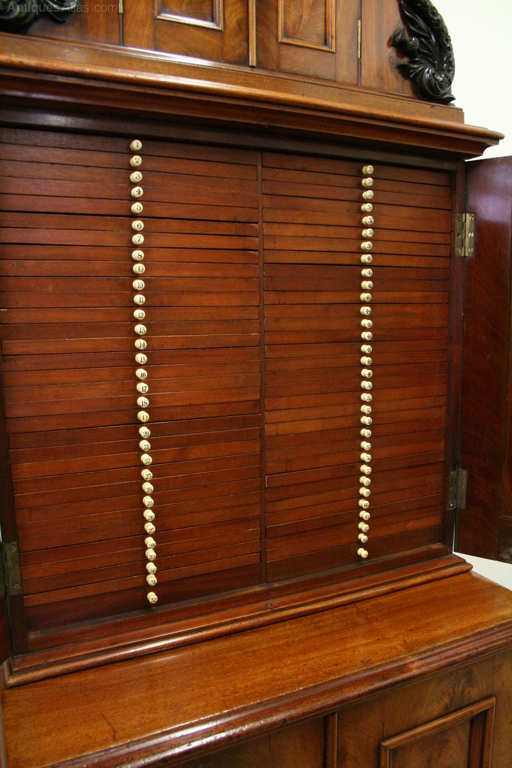 Scottish Mahogany Coin Collector S Cabinet Antiques Atlas