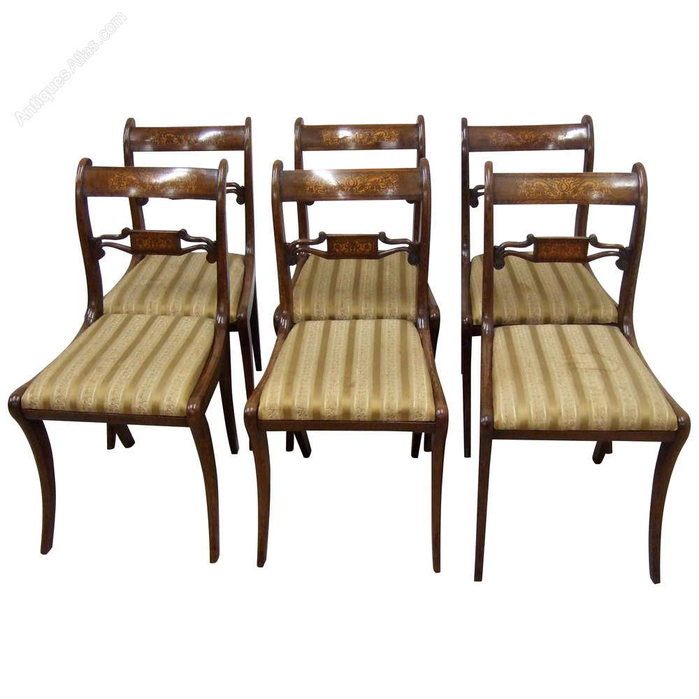 Set of 6 regency rosewood dining chairs antiques atlas for Set of 6 dining chairs