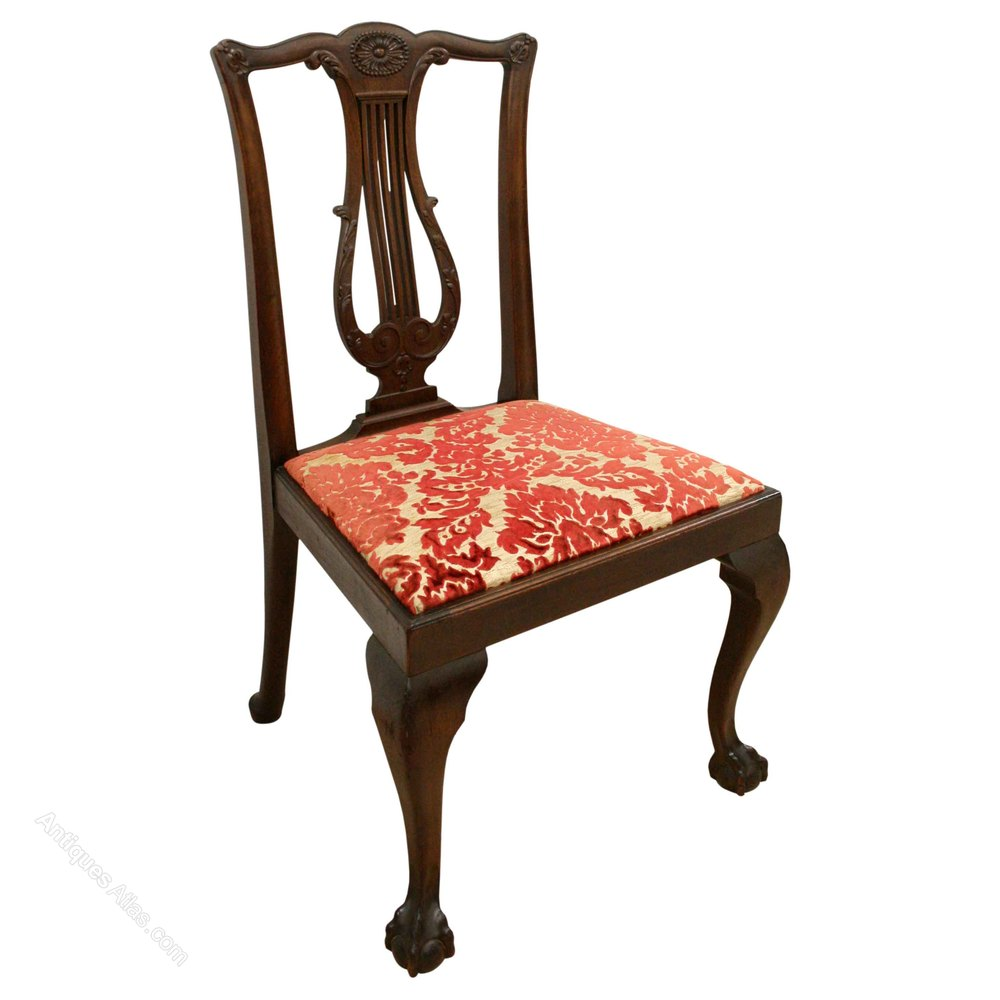 Set Of 8 Georgian Style Mahogany Dining Chairs Antiques