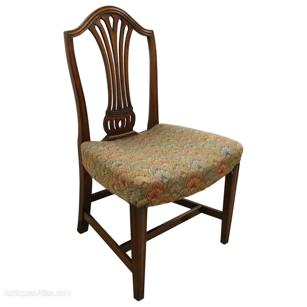 Set of 8 hepplewhite style mahogany dining chairs for Style chair