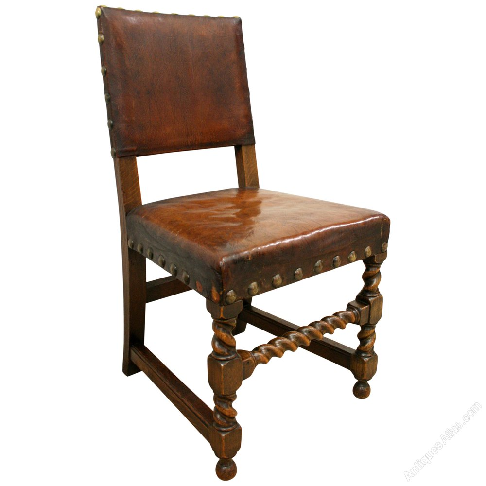 Set of 8 jacobean style oak dining chairs antiques atlas for Oak dining chairs