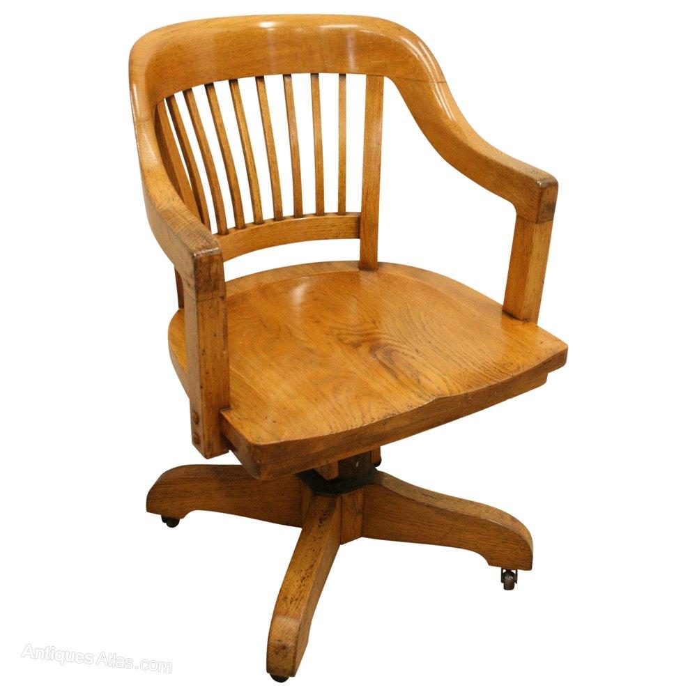 Solid oak revolving desk chair antiques atlas