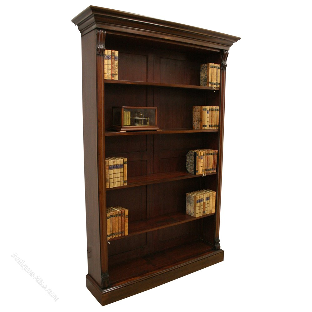 Tall Victorian Open Bookcase Antiques Atlas