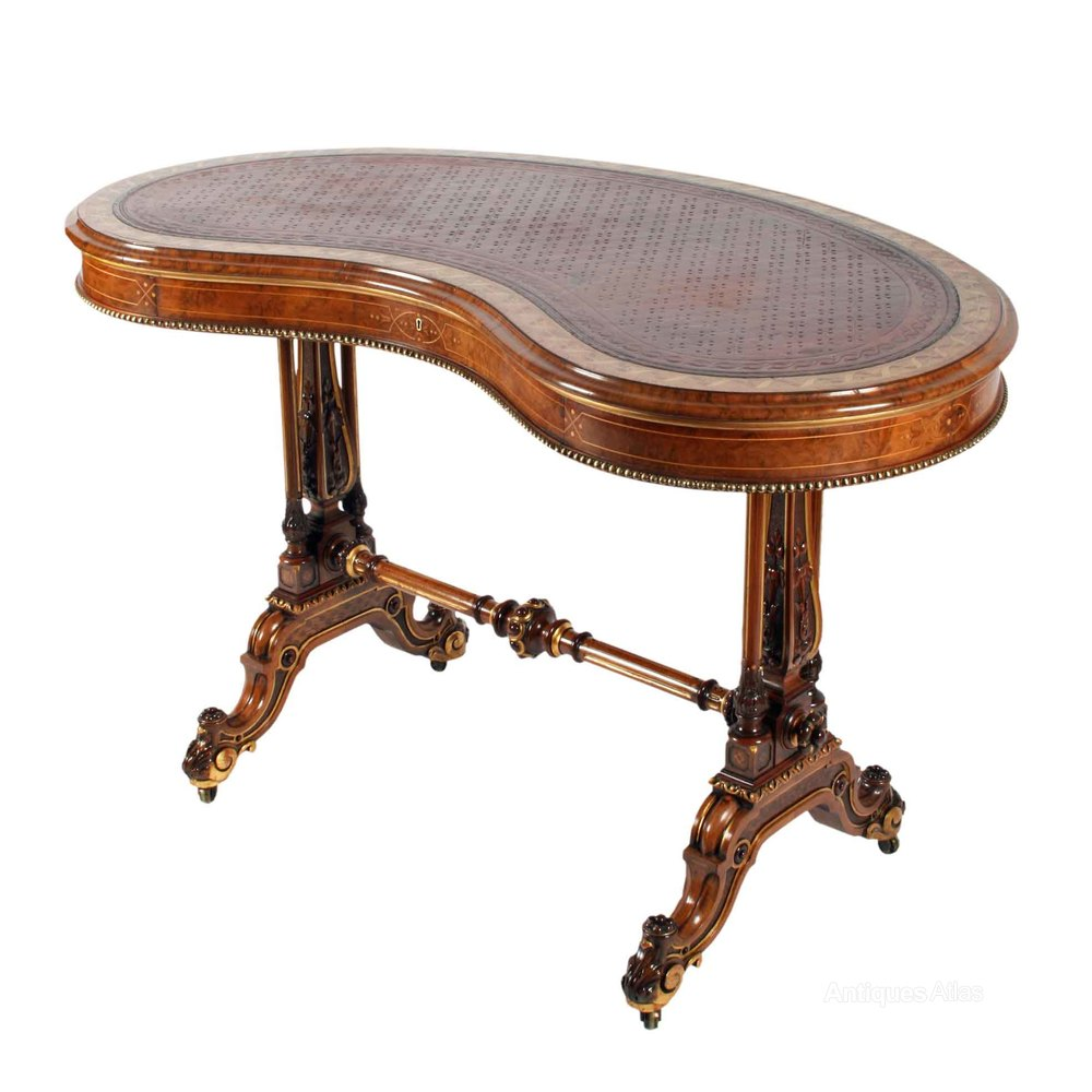 Victorian Kidney Shaped Writing Table Antiques Atlas