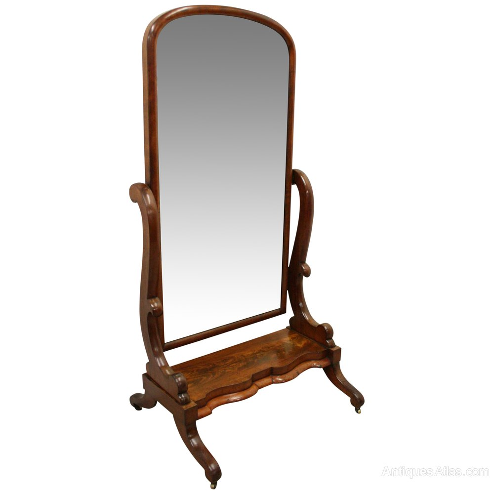 Antiques atlas victorian mahogany cheval mirror for Cheval mirror