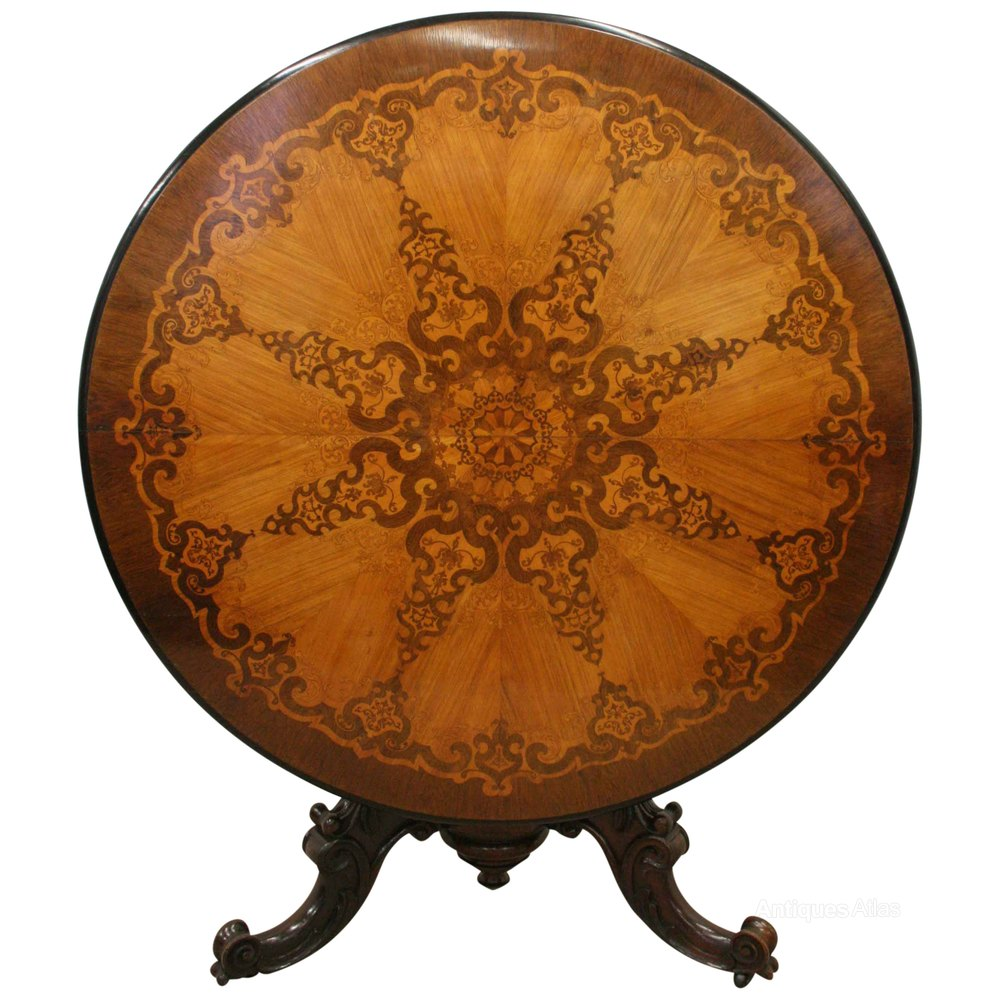 Victorian Marquetry Inlaid Breakfast Table Antiques Atlas : VictorianMarquetryInlaidCiras178a2678z 1 from www.antiques-atlas.com size 1000 x 1000 jpeg 148kB