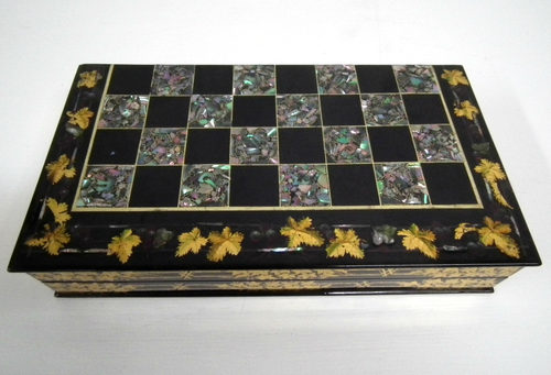 Antiques Atlas Victorian Mother Of Pearl Inlaid Games Board