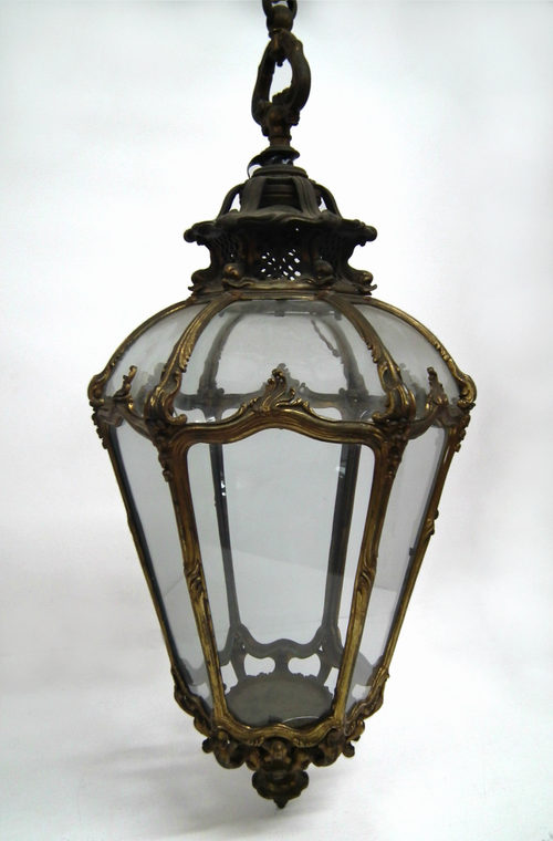 Antiques Atlas - Wonderful Cast Brass And Gilded Hall Lantern