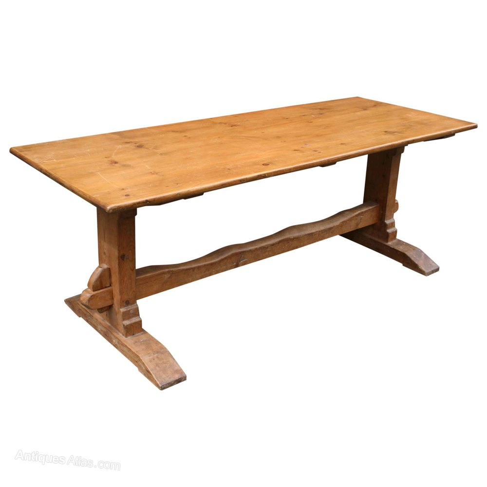 Yellow Pine Refectory Table Antiques Atlas