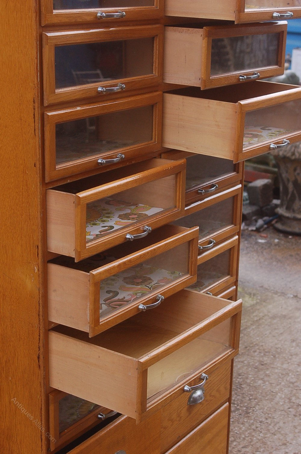 Antiques Atlas Retro Haberdashery Cabinet Multi Drawer
