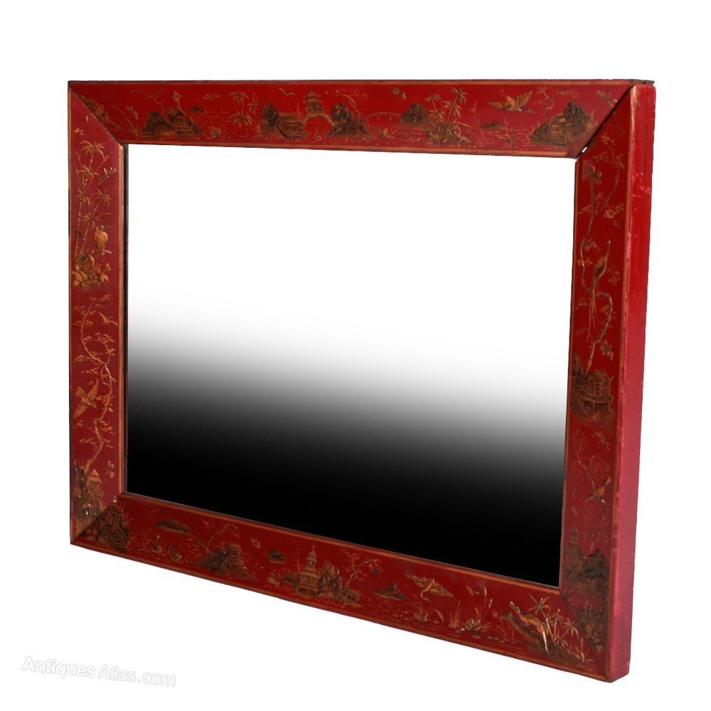 Antiques Atlas Victorian Red Lacquered Mirror