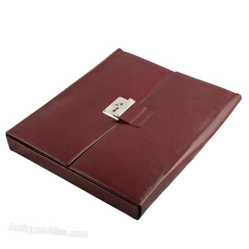 Antiques Atlas - Leather Desk Correspondence Case.
