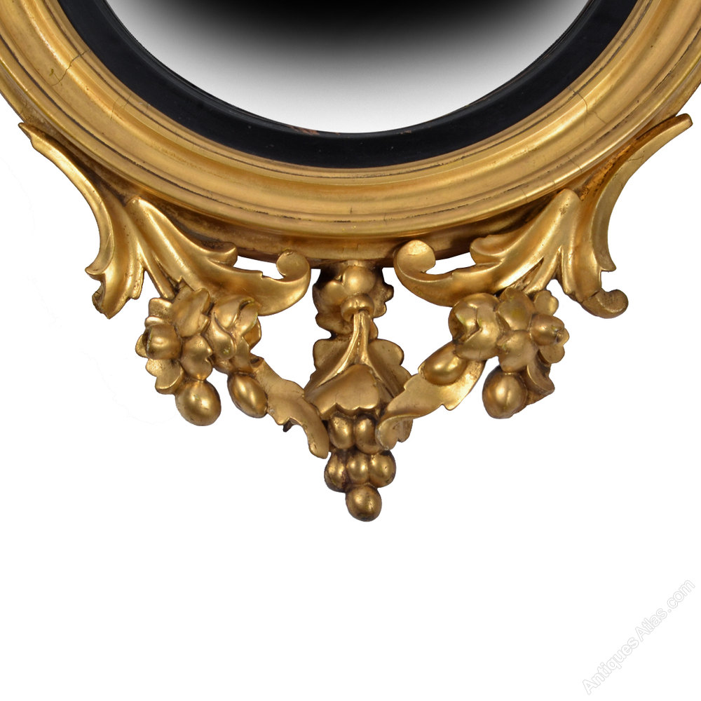 Antiques Atlas Regency Gilt Wood Convex Mirror