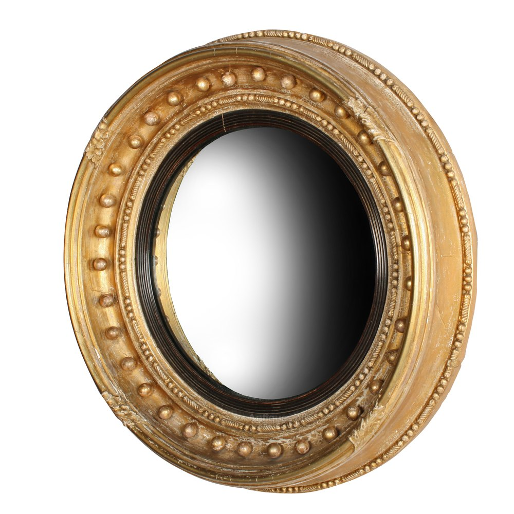 Antiques atlas regency gilt wood convex mirror for Convex mirror