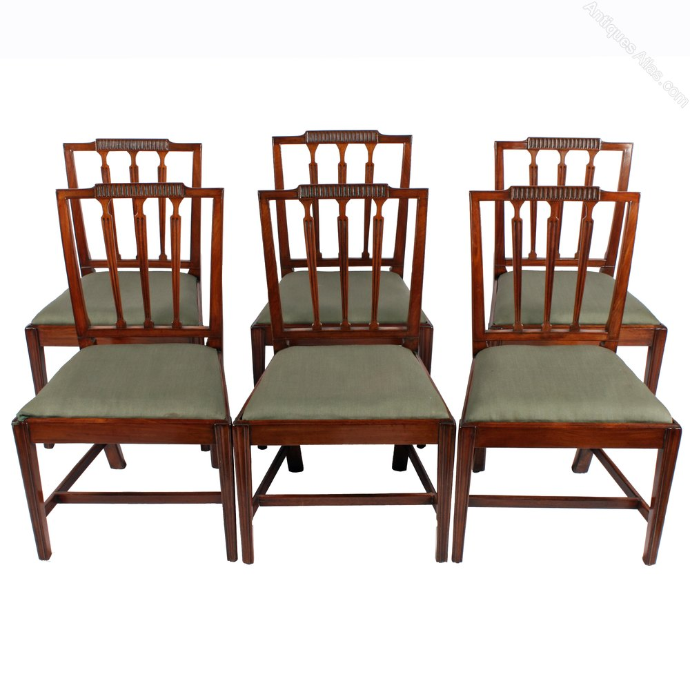 Set Of Six Hepplewhite Chairs Antiques Atlas